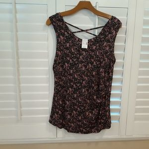 Pretty floral Maurices tank top